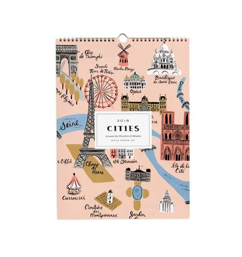 Paper Companies - 2016 rifle paper co frameable calendars and gallery wall