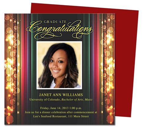 templates for graduation announcements stage graduation announcements templates use with
