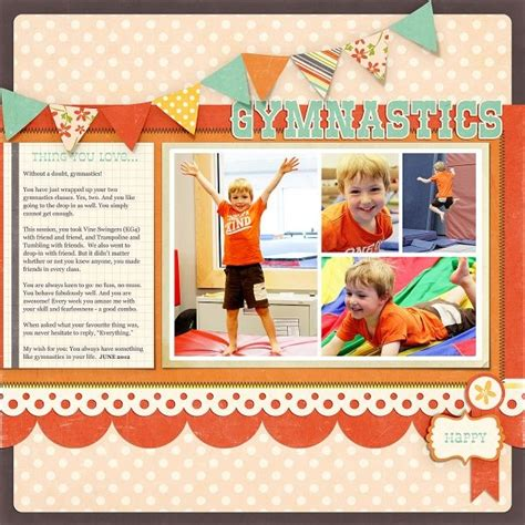gymnastics scrapbook layout 1000 images about scrapbook 3 on pinterest