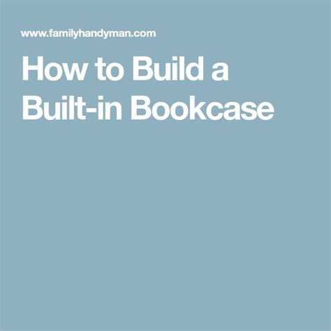 how to build a built in bookcase with doors best 25 build a bookcase ideas on bookshelf