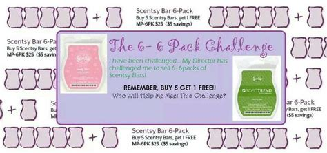 6 pack challenge 6 pack challenge for scentsy quot scentsy wickless candles