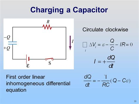 notes on charging and discharging of capacitor direction of charge flow during capacitor charging and discharging 28 images rc charging