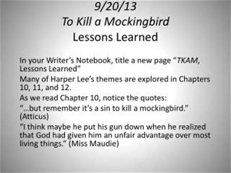 Themes In To Kill A Mockingbird Chapter 9 | ppt to kill a mockingbird chapter 11 literary devices