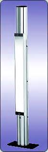 free standing curtain system floor mounting mirror system for safety light curtain