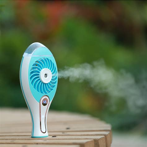 comfort cool fans loskii uf 179 rechargeable usb fan spray humidifier