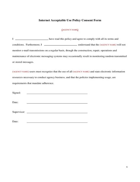 Student Acceptable Use Policy Template Internet Acceptable Use Policy Free Download