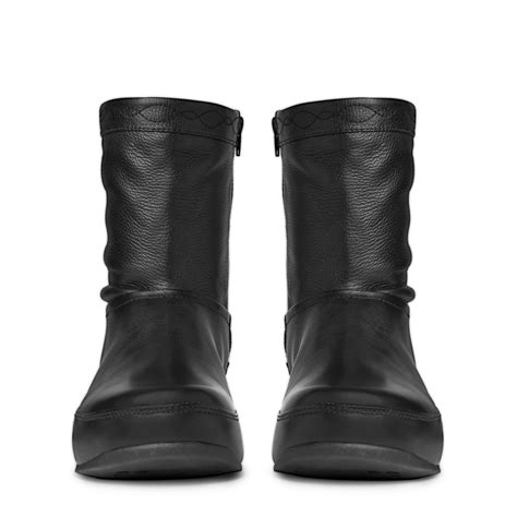 fitflop zip up crush mid calf boot in grained soft