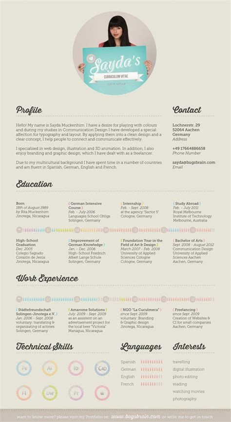 resume templates creative 25 creative and simple resume exles