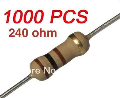 Resistor Tahanan 1 M Ohm 0 25 Watt 2018 wholesale resistor 1 4w 0 25w watt 240 ohm 240ohm