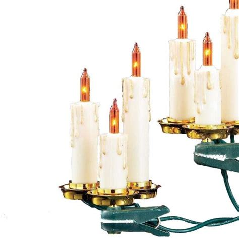 kurt adler lights kurt adler 15 light candle light set with ivory