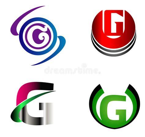 design logo huruf f letter g logo template design vector set stock