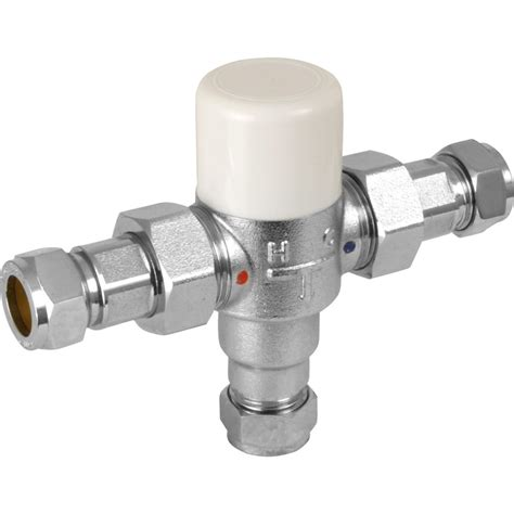 Mixing Valve Plumbing new plumbing thermostatic mixing valve 15mm feed ebay