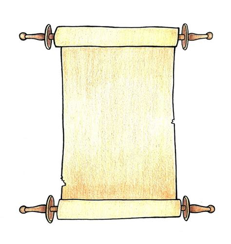 scroll drawing template scroll pencil and in color scroll