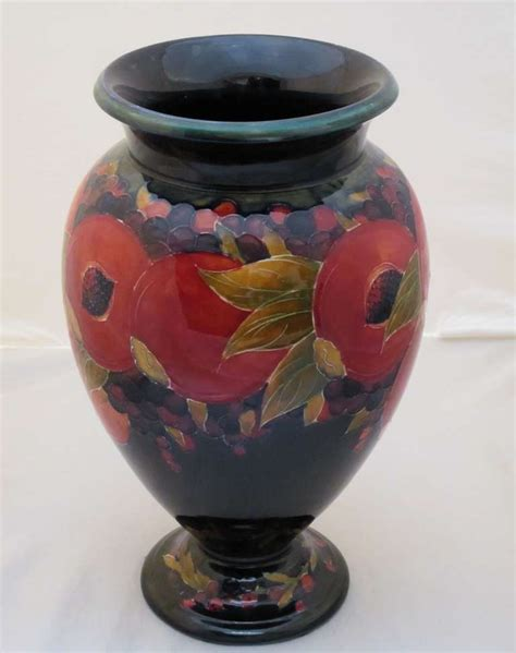 large moorcroft vase pomegranate pattern at 1stdibs