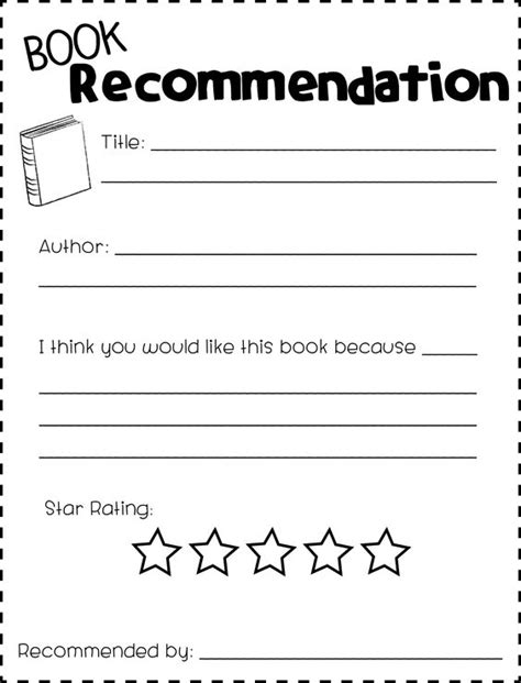 book recommendation cards template blossoms of blue in 2 how to get your students excited