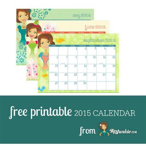 Free Printable 2015 Calendar By Tip Junkie Tip Junkie Tip Junkie