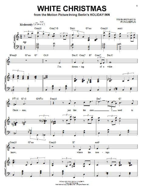 white christmas sheet music by irving berlin piano vocal