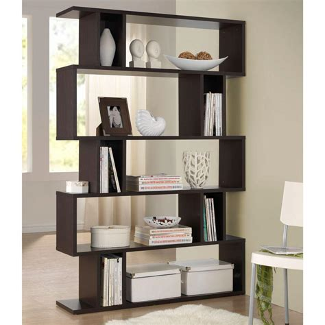 4 shelf open bookcase hton bay 3 shelf decorative bookcase in dark brown