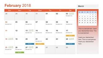 powerpoint template calendar monthly calendar for 2018 ppt slidemodel