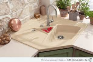Beige Home Decor 15 cool corner kitchen sink designs home design lover