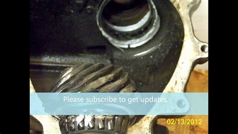 volvo xc angle bevel gear replacement youtube