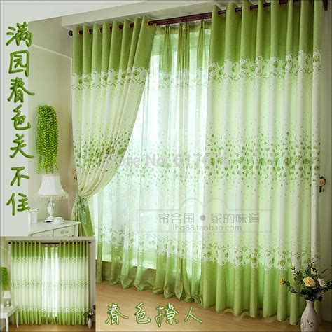 spring green curtains fresh spring green country style main living room children