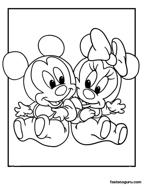 Baby Disney Characters Coloring Pages Draw Background Baby Disney Jr Characters Coloring Pages