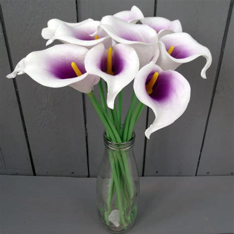 Artificial Lilies In Vase by Artificial Calla Flowers In Vase Many Colours Ebay