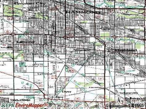 iu cus map pin munster indiana area map on