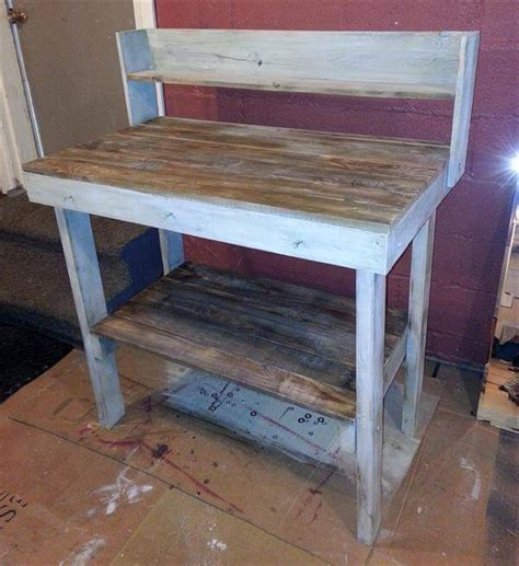 diy potting bench from pallets rustic pallet potting bench pallet furniture diy