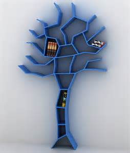 unique bookcase shaped like tree tree bookcase home