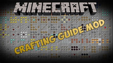 crafting with minecraft mods crafting guide mod minecraft 1 2 5