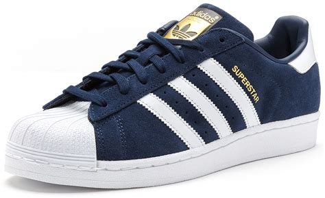 Adidas Blue List White adidas originals superstar suede trainers in collegiate
