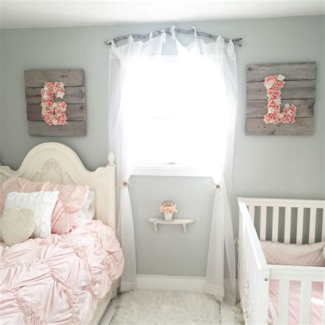 shabby chic girls bedroom shop floral monograms at littlebrownnest etsy com