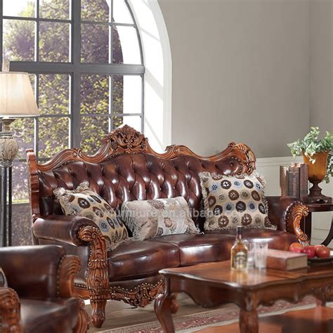 hand carved wooden antique sofa set luxury living room
