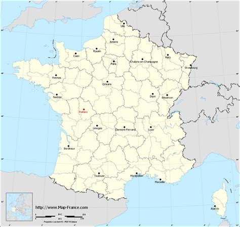 ROAD MAP POITIERS : maps of Poitiers 86000