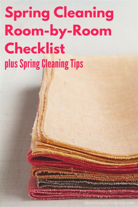 spring cleaning checklist room by room 1000 ideas about room cleaning tips on pinterest