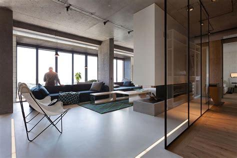 Concrete Ceiling Lighting npl penthouse loft design