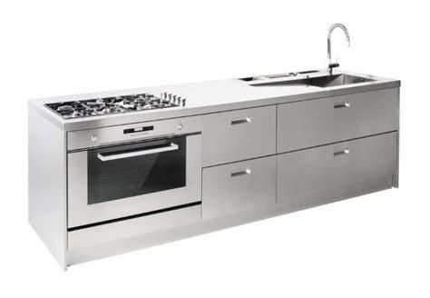 blocco cucina inox c65 blocco cucina inox lineare cucine in acciaio