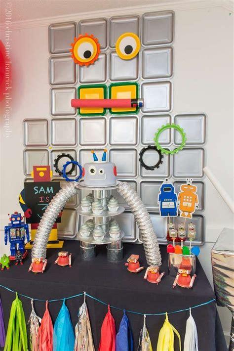 Robots  Ee  Birthday Ee    Ee  Party Ee    Ee  Ideas Ee   Dessert Tables On Catch