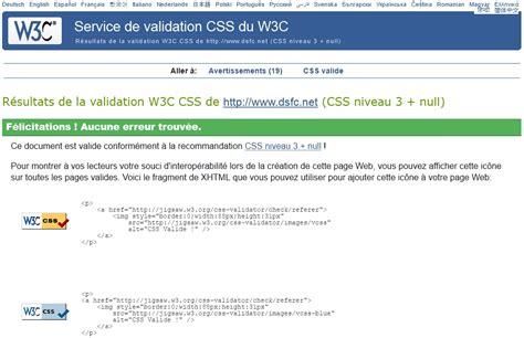 html validation w3c les validateurs du w3c pour un meilleur r 233 f 233 rencement