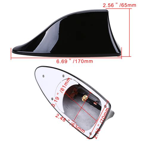 universal car roof am fm radio signal shark fin antenna aerial cover fit bmw kia ebay