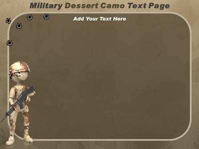 military camo a powerpoint template from presentermedia com