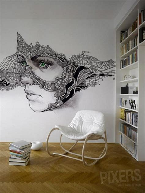 phantasmagories wall murals by pixers alldaychic this large scale flower mural reminds me of our flower power casart