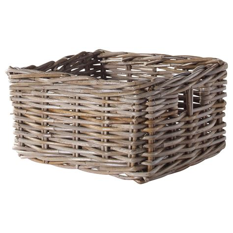 ikea wicker baskets byholma basket grey 25x29x15 cm ikea