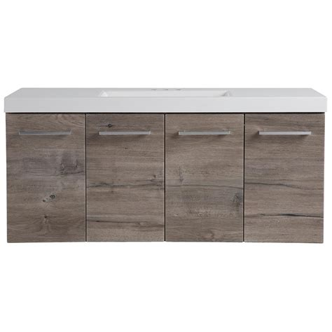 Unfinished Wood Kitchen Cabinet Doors domani stella 48 5 in w x 18 75 in d wall hung vanity in