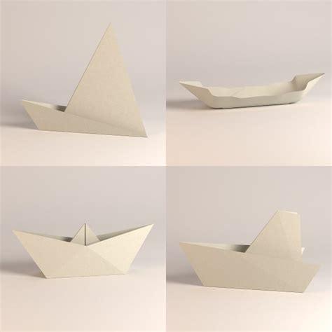 3d paper boat paper boats 3d model