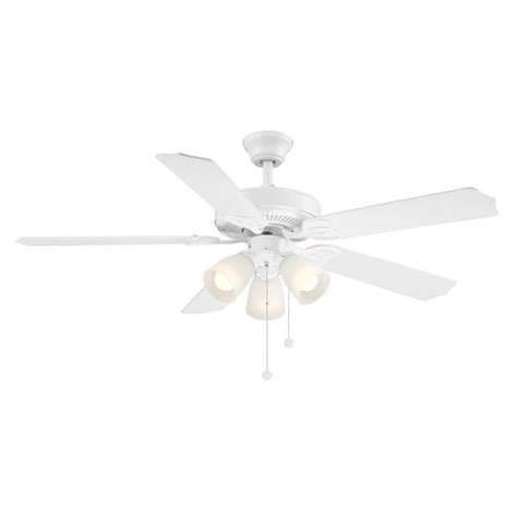white ceiling fan trimount 52 in indoor white ceiling fan with light kit