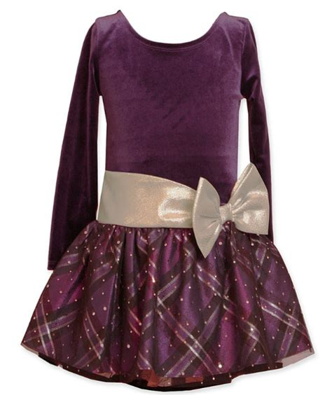 bonnie jean purple dress with gold bow