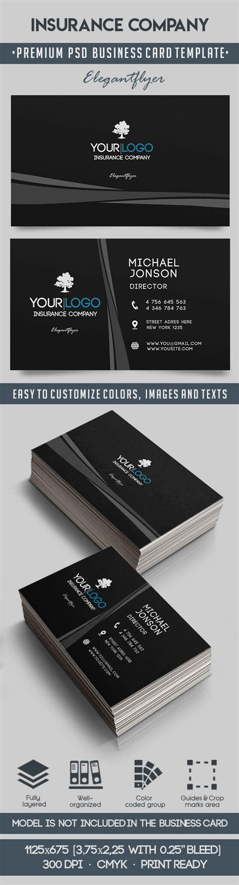 insurance business cards templates business card for insurance company by elegantflyer